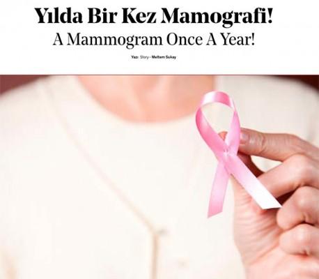 Yılda bir kez mamografi